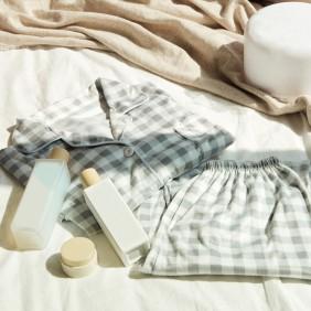 체크 파자마 잠옷